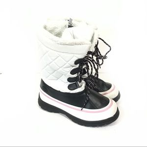 Totes Kids Girls Sophie White winter snow boots